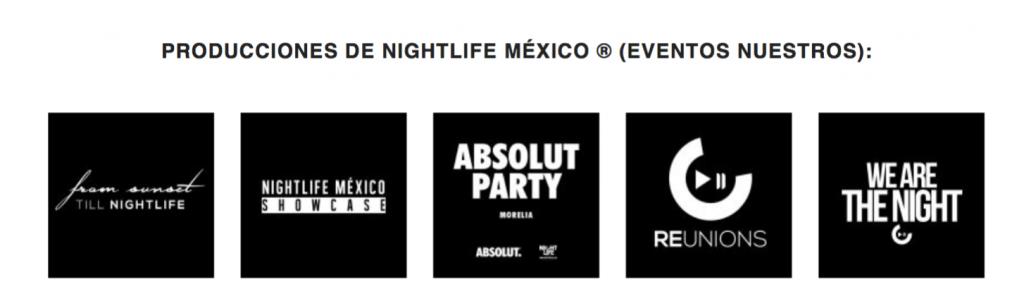 Producciones de Nightlife México